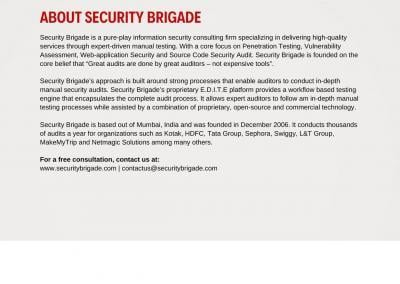 About Security Brigade