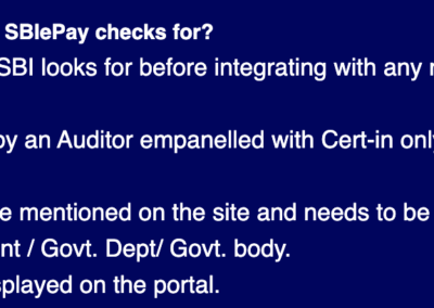 SBI ePay Website - VSCC Requirement